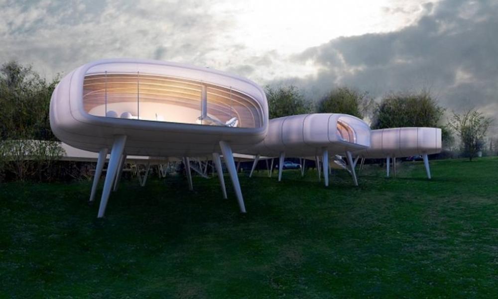 Wzgórza Sztuki w Sobótce - projekt Domów Krabów