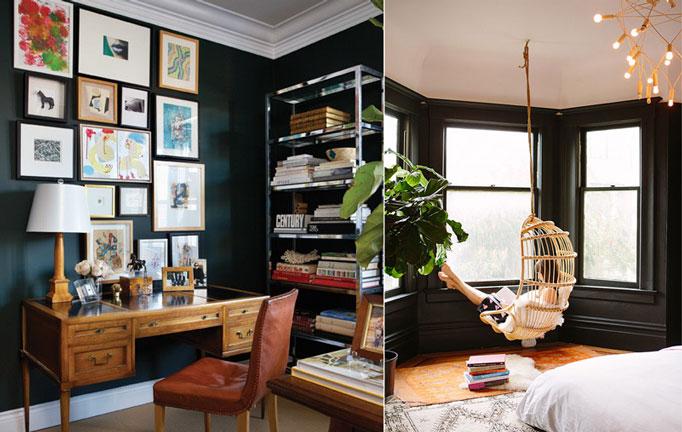 Nowy trend - czarne ściany w mieszkaniu